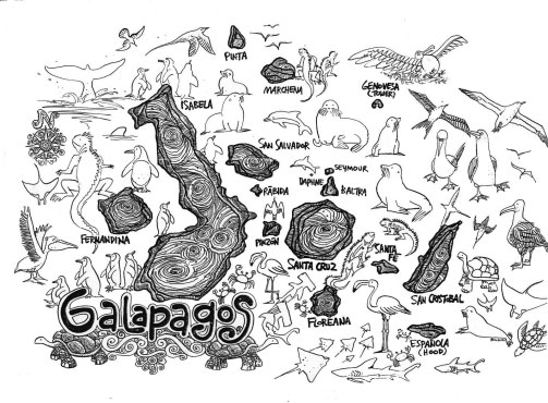 Galapagos Islands Map