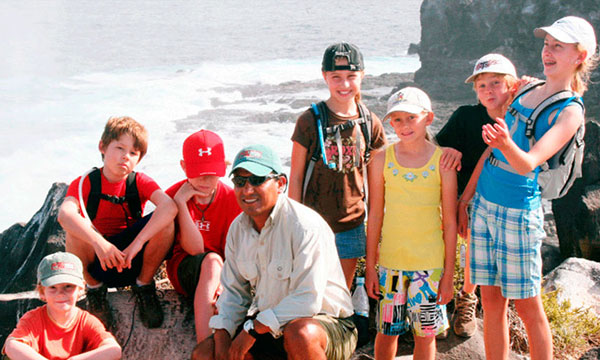 Family and Children in Galapagos